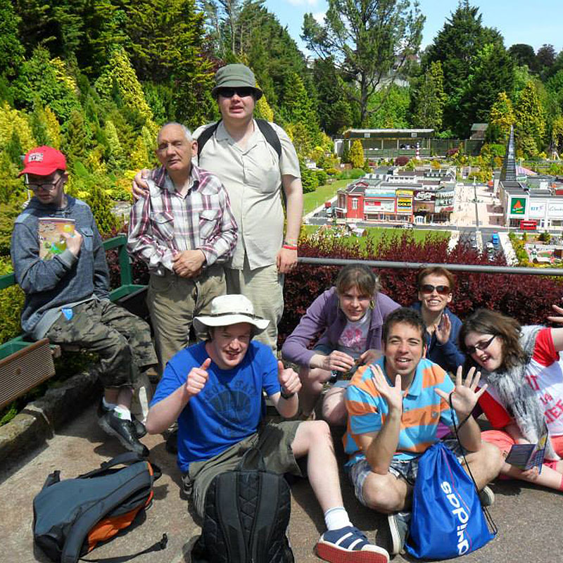 Group of Adults with Learning Disabilities on a trip with Green Days Day Care